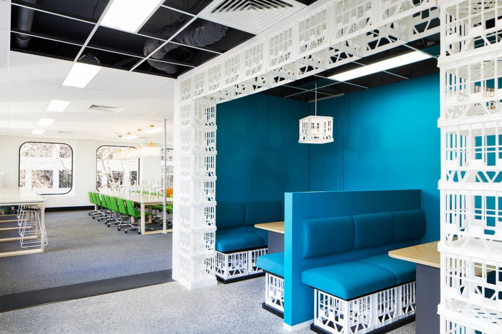 This is just 1 of the many fitouts done by the Bold Collective- seriously cool stuff these guys do..yes they are milk crates you are looking at