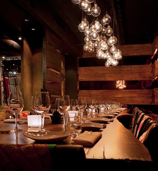 AME-Restaurant-long-dining-table-and-lighting-interior-design