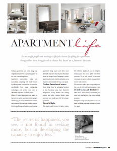 Apartment life article