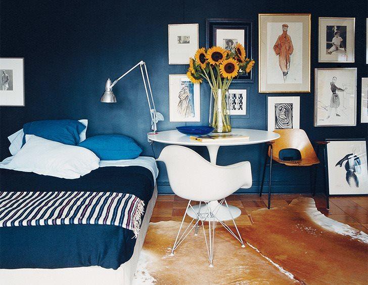 Beaut blue walls