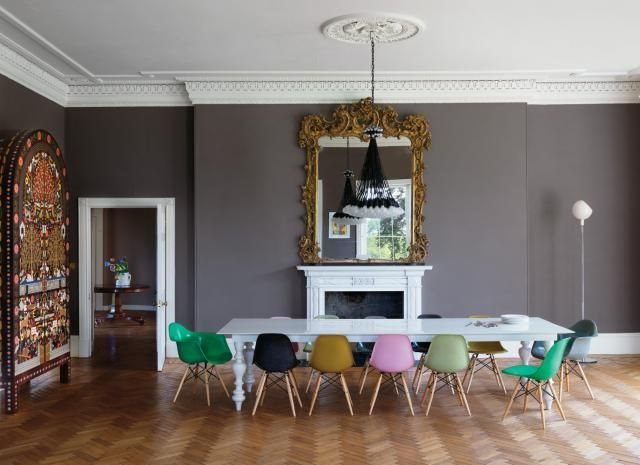 Eames chairs with vintage