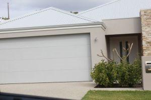 Exterior image idea (shale grey roof, gutters & garage, dune render