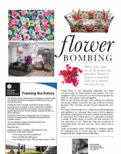 Flower bombing article