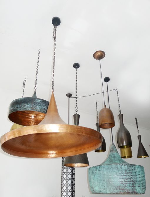 Copper pendant lights- just stunning!