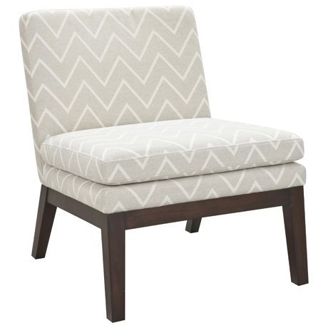 Slipper Chair in Chevron Taupe upholstery by Freedom