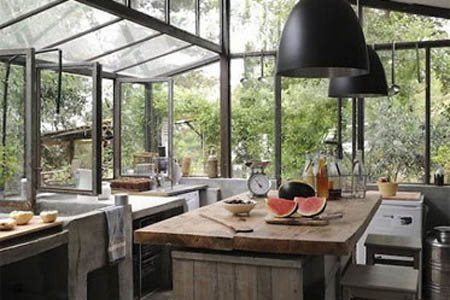 Wood-Beams-Industrial-Kitchen-Design-450x300