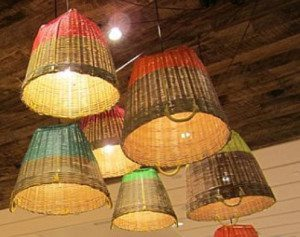 Basket lights - latest DIY project I atempted * Please note thee ones are NOT the ones I made but the look better so I'm posting them instead