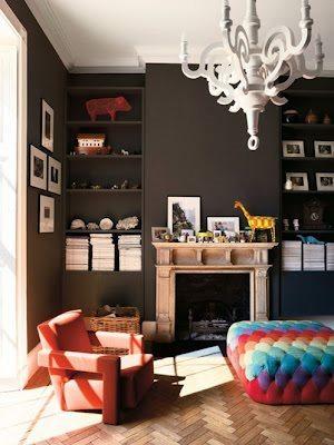 dark walls modern furniture