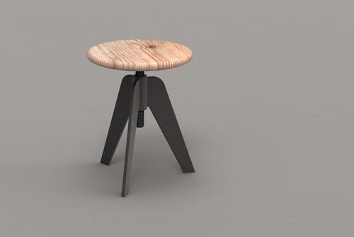 Tyre stool/ table by Minneapolis-based designer Paul Isabella