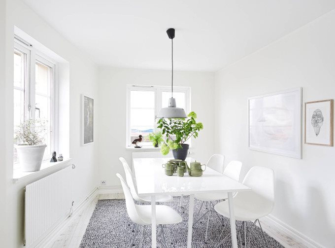 white-apartment-greens-dining-room-680x503